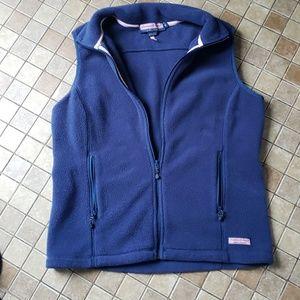 Vineyard Vines Blue Fleece Vest
